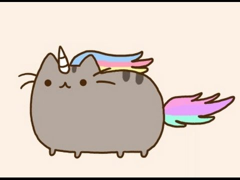 Speed draw: Puseen cat unicorn-Facebook - YouTube