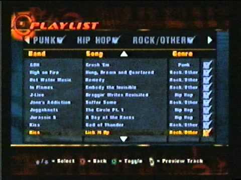 THUG (Tony Hawk's Underground) Playlist Preview