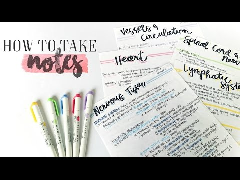 How To Take AWESOME NOTES & STUDY EFFECTIVELY! | christylynn