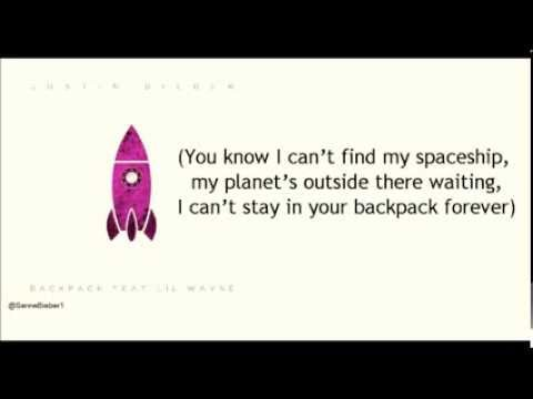 Justin Bieber - Backpack ( Journal ) ft  Lil Wayne Lyrics Video