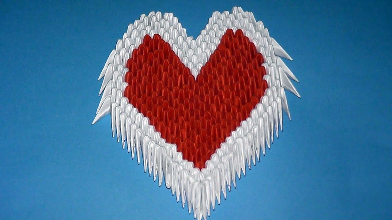 3D origami heart valentine Variant 3 tutorial (instruction ... - photo#45