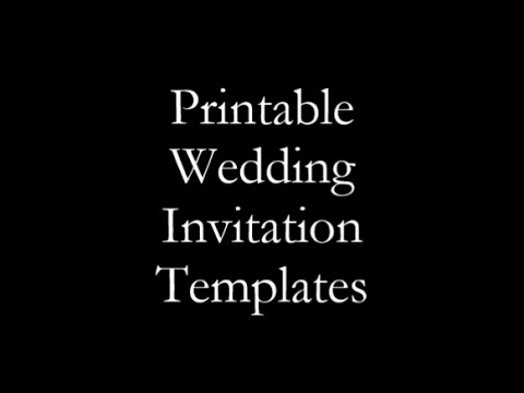 Finding Free And Printable Wedding Invitation Templates