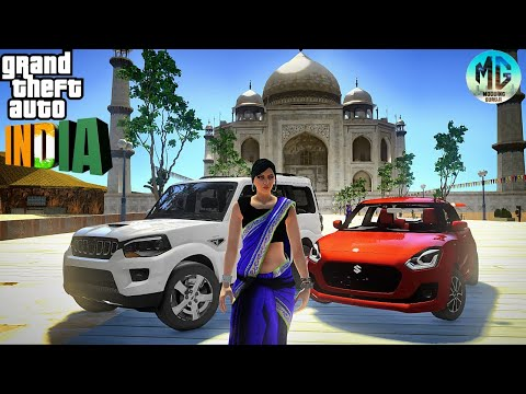 GTA INDIA 6.0 | Indian Cars, Monuments,banners  |Taj Mahal Statue Of Unity | India Gate