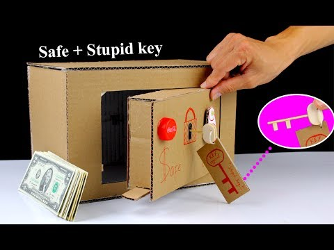 Thumbnail: How to make a Safe Locker From Cardboard with ' Stupid ' Key - Mr H2 Diy Toys
