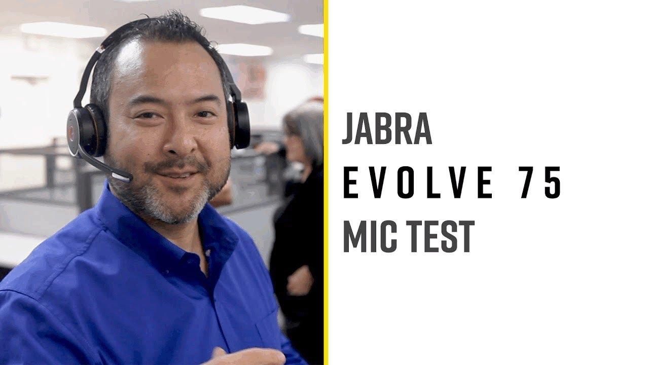 Jabra Evolve 75 Open Office Mic Test Youtube