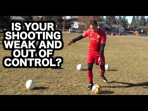 How To Shoot A Football With Power And Accuracy | How To Shoot A Soccer Ball Perfectly For Beginners