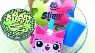 Mixing Store Bought Slime with Putty and Clear Slime!