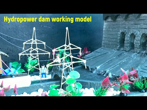 Hydro power dam working model for science exhibition | Hydroelectric dam model for school projects