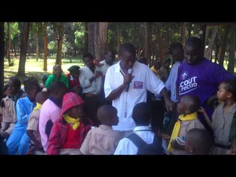 Scouts in Kibera celebrate Buden Powell's Birthday