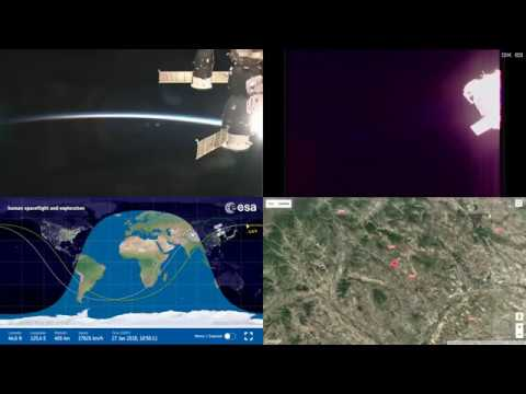 Orbital Sunset Over Asia - ISS Space Station Earth View LIVE NASA/ESA Cameras And Map - 45