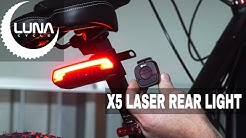 Luna Cycle Milan X5 Wireless Ebike Laser Rear Light