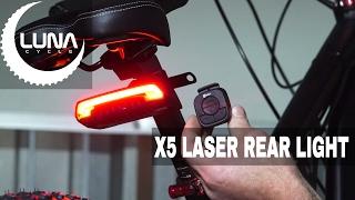 Luna Cycle Milan X5 Wireless Ebike Laser Rear Light