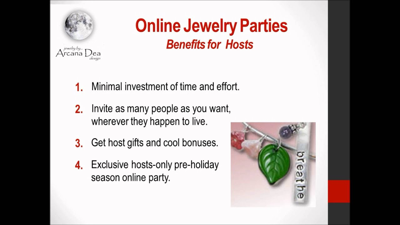 host an online jewelry party  get free stuff