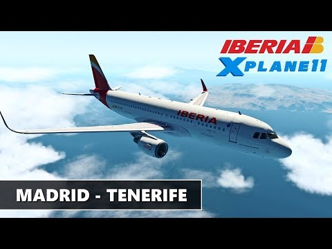 [X-Plane 11] IBERIA | MADRID (LEMD) to TENERIFE (GCTS) Orto4XP Air A320 JarDesign