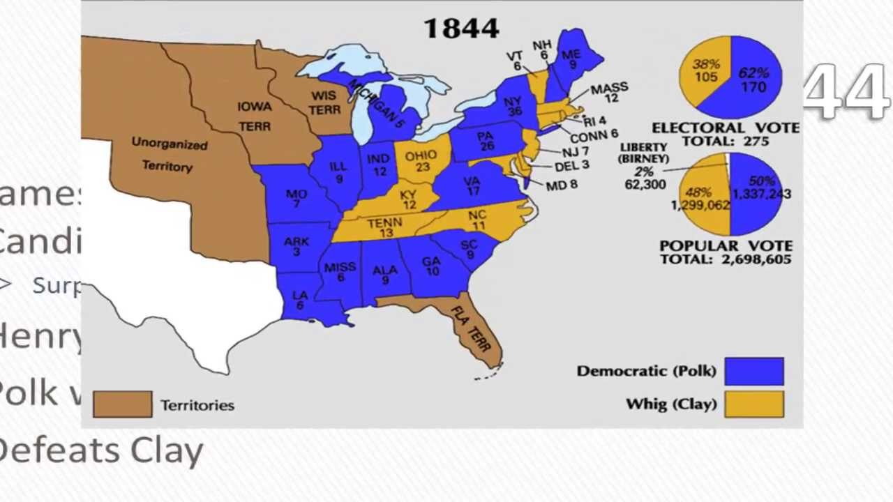 APUSH Review The Presidency Of James K Polk YouTube - Ap us history textbook american pageant manifest destiny map
