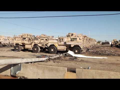 Tornado Damage on Marine Corps Logistics Command