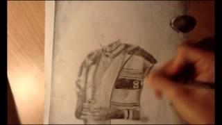 Dibujando a Alfredito Mineros Ramos Pastore