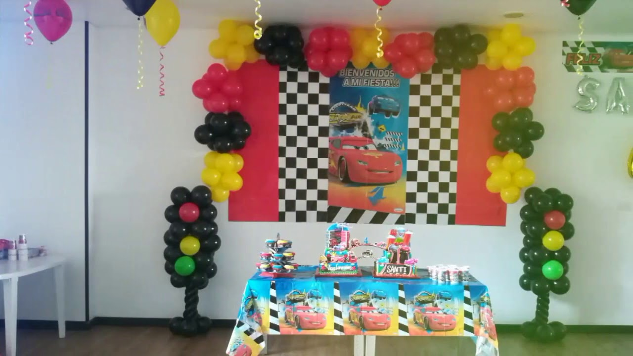 Decoraci n cars fiestas infantiles youtube for Decoracion de pared para fiestas infantiles