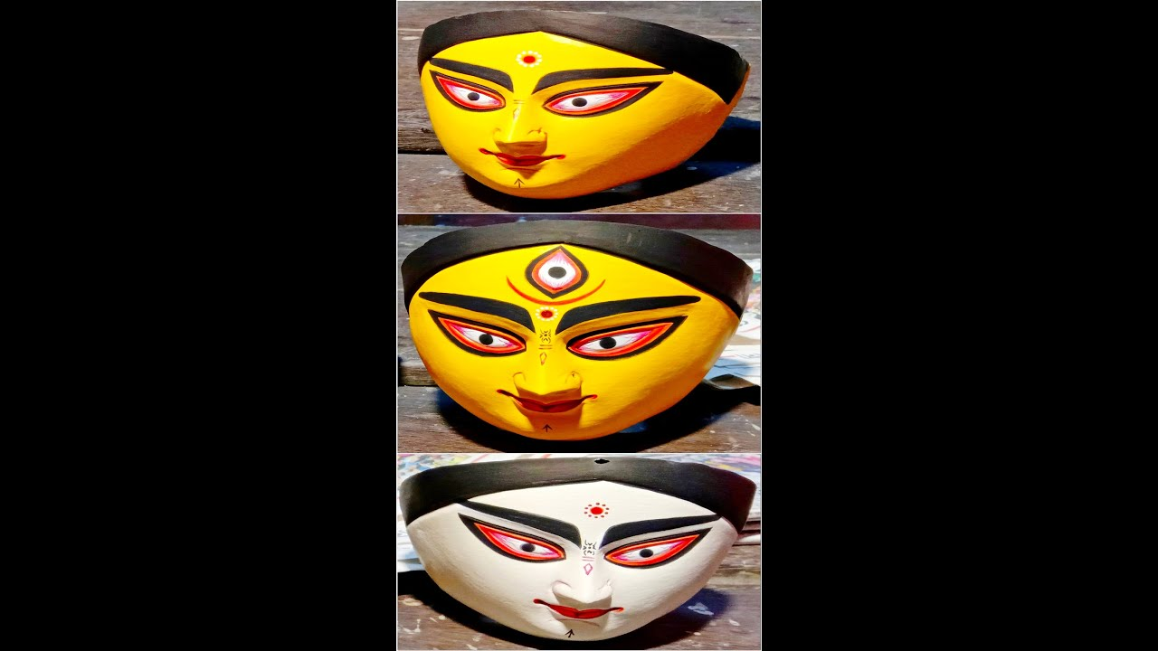 Durga Idol Painting #Shorts