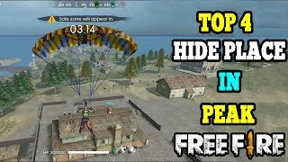 TOP 4 PEAK HIDE PLACE IN FREE FIRE TAMIL || TOP 4 FREE FIRE HIDE PLACE|| RUN GAMING