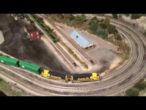 Z Scale Train Layout with Rokuhan Track and Dual Train Operation