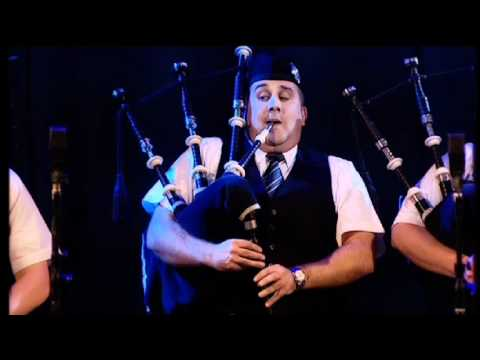 Strathclyde Police Pipe Band live at the MG ALBA Scots Trad Music Awards 2008 set 1