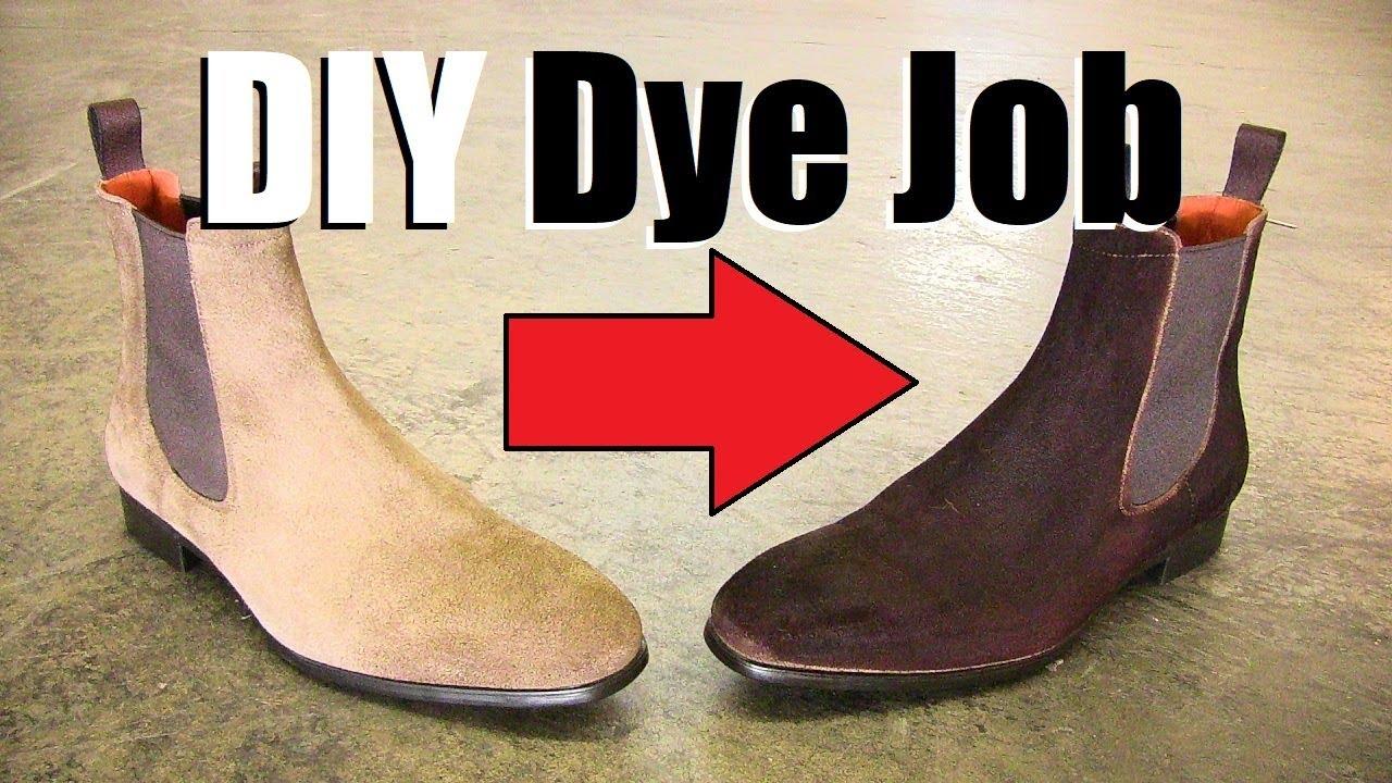 DIY Suede Boot Dye Job! | Coloring