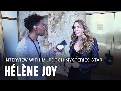 with Murdoch Mysteries actress Hélène Joy