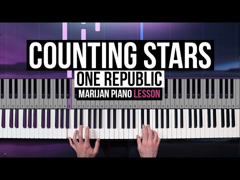 How To Play: One Republic - Counting Stars | Piano Tutorial Lesson + Sheets