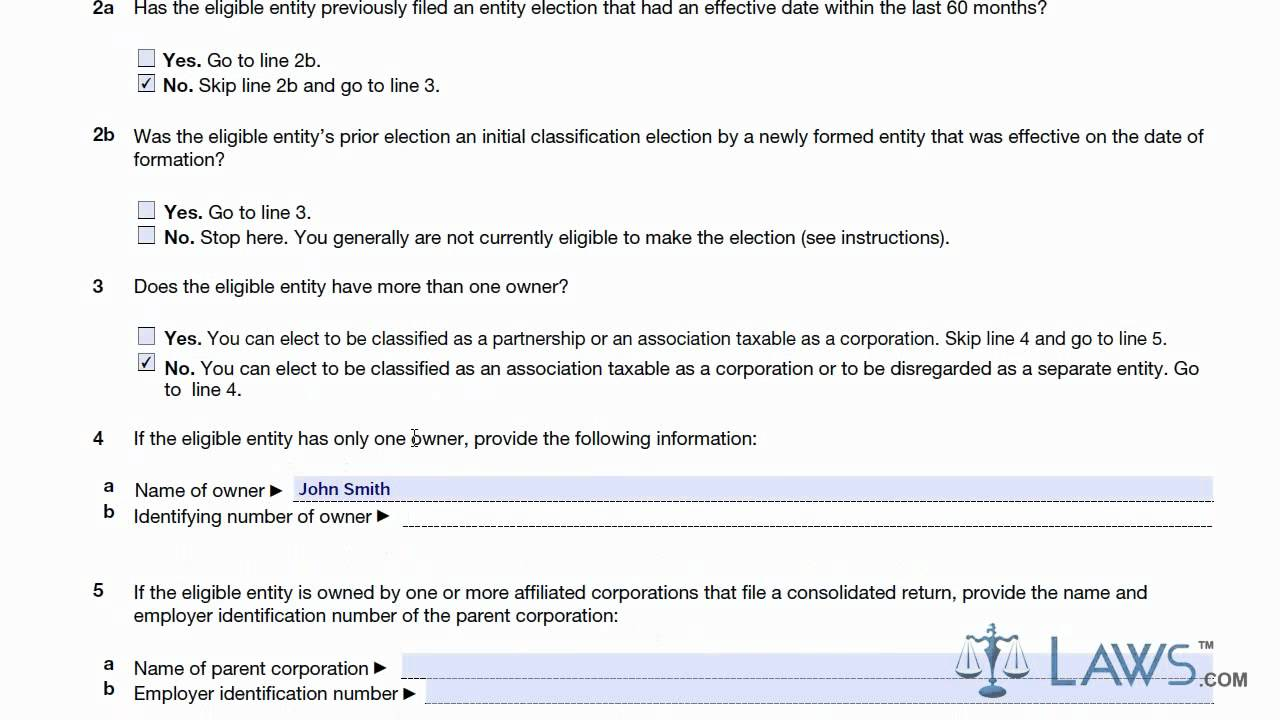 Learn How to Fill the Form 8832 Entity Classification Election ...