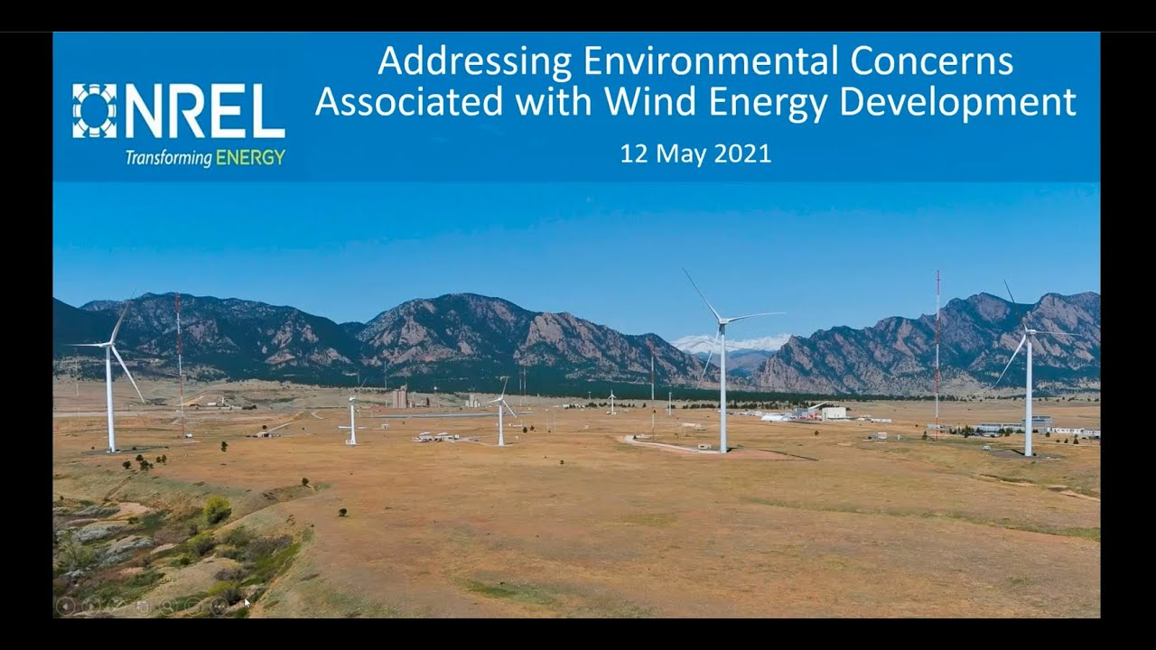 Addressing Environmental Concerns Associated With Wind Energy Development