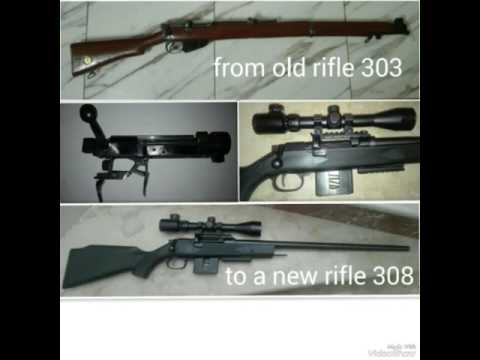 303 lee enfield modernized stock job and trigger replacement 303 to 308 البندقيه الانكليزيه او برنو