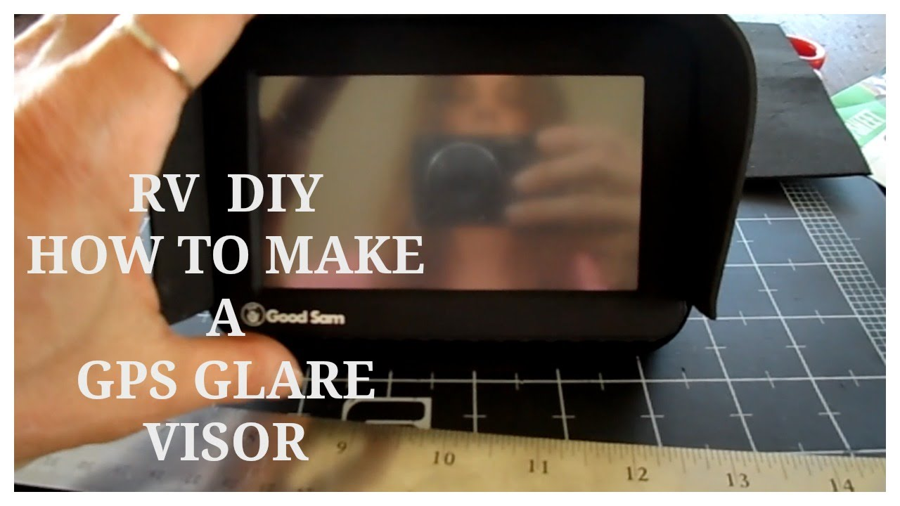 RV DIY ~ How to Make a GPS Visor Cover for Sun Glare - YouTube 0a17a33d613