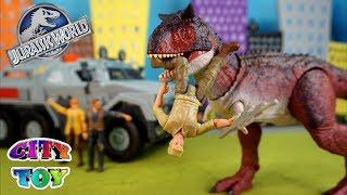 Figuras de acción Jurassic World El Reino Caído Camión y giro giroesfera