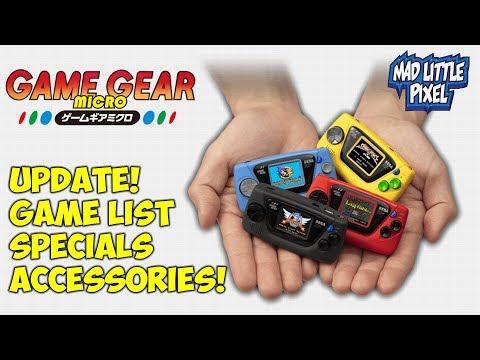 Sega Game Gear Micro Update! Game List Revealed, Specs & More!