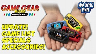 Sega Game Gear Micro Update! Game List Revealed, Specs & More!