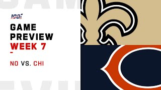 New Orleans Saints vs. Chicago Bears Week 7 NFL Game Preview