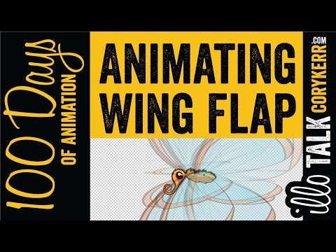 Animating Butterfly Wing Flapping in 2.5D UNCUT (100 Days:61)