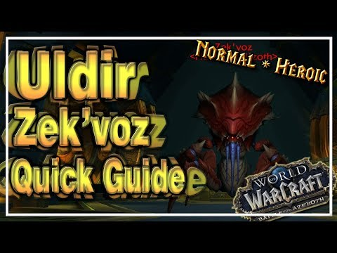 Zek'voz│Uldir│QUICK GUIDE (Normal & Heroic)