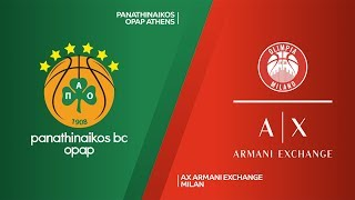 Panathinaikos OPAP Athens - AX Armani Exchange Milan Highlights | EuroLeague, RS Round 3