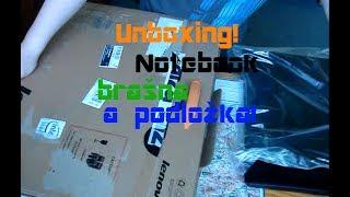 Unboxing! Notebook, brašna na notebook a podložka