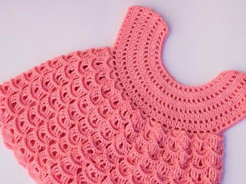 25fc03224db Crochet girl dress very easy - YouTube