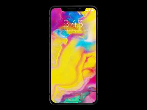 iPhone X Live Wallpapers on any iPhone - YouTube