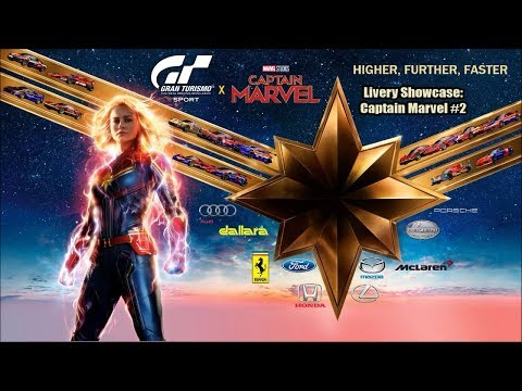 GT Sport - Livery Showcase: Captain Marvel #2
