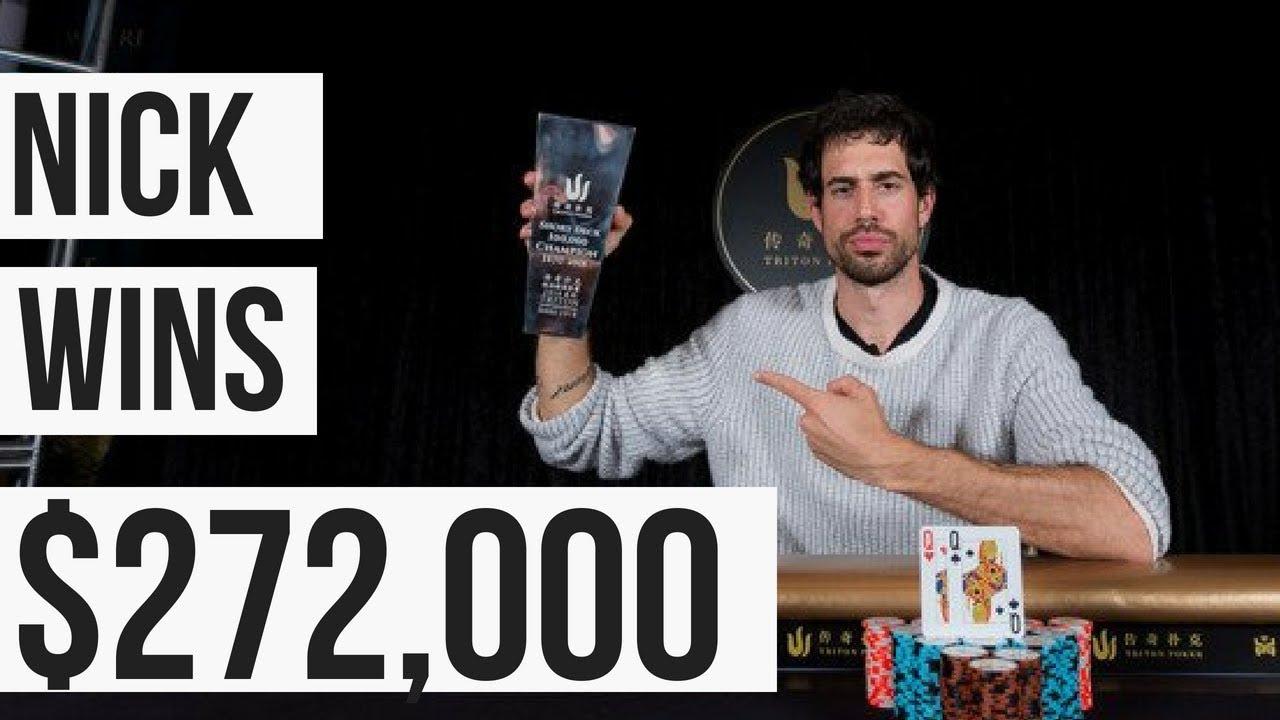 Nick Schulman Wins the $100,000 HDK Triton Poker Short Deck Poker Tournament