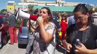 La protesta sulla chiusura del Punto nascita