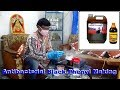 Antibacterial disinfectant black Phenyl making in English and Hindi.