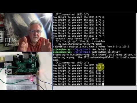 Raspberry Pi Linux LESSON 27: PWM Output on GPIO Pins from Python