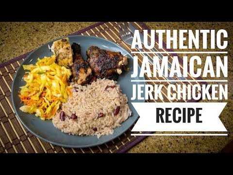 Authentic Jamaican Jerk Chicken 4k video recipe
