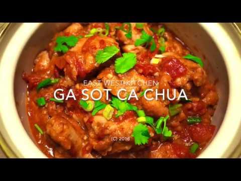 Chicken Braised In Tomato Sauce (Ga Sot Ca Chua)